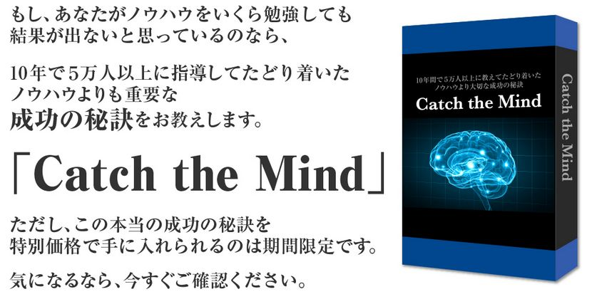 Catch the Mind(キャッチザマインド)特典付きレビューや評判
